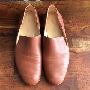 Brown Clarks Loafers